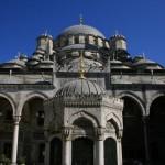 Cour intérieure de la mosquée Neuve à Istanbul