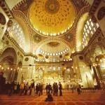 Intérieur de la mosquée Süleymaniye - Istanbul