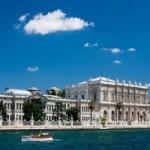 Vue du Bosphore du Palais Dolmabahçe