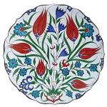 Assiette en céramique d'Iznik