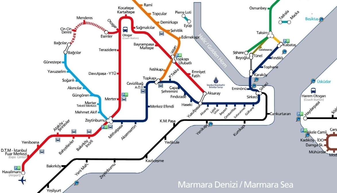 Plan Des Transports Publics Istanbul