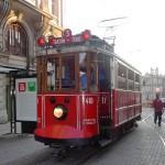 Vieux tramway à Istanbul