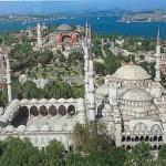 Vue aérienne de Sultanahmet