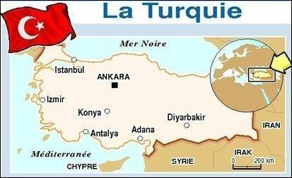 Istanbul sur la carte de la Turquie