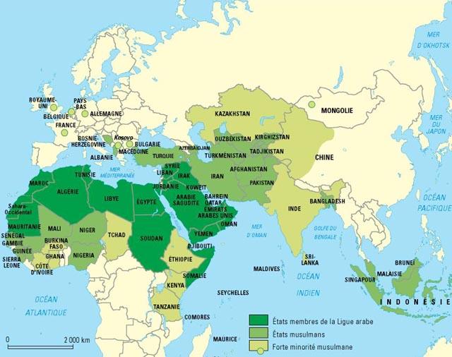 Carte du monde musulman